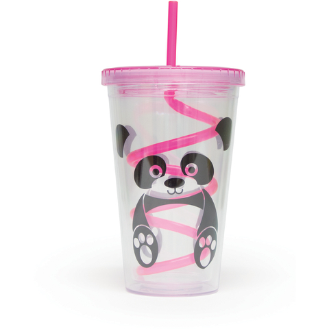 Panda Straw Cup - Multi (16oz)