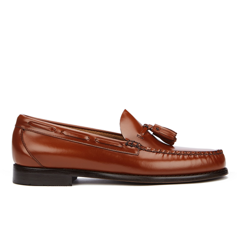 Bass Weejuns Men's Larkin Tassle Leather Loafers - Mid Brown