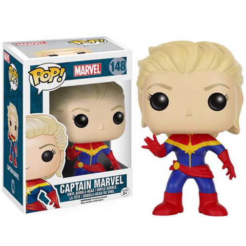 Marvel Unmasked Captain Marvel Funko Pop! Figuur
