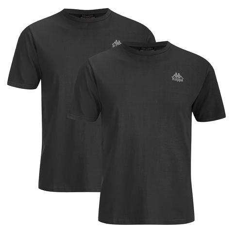 Kappa Men's Nico 2 Pack T-Shirts - Black
