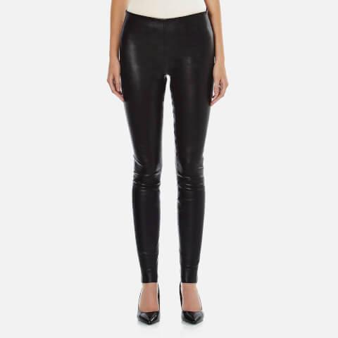 By Malene Birger Women's Elenasoo Leather Trousers - Black