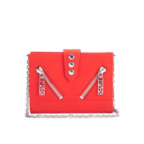 KENZO Women's Kalifornia Wallet on a Chain Crossbody Bag - Red