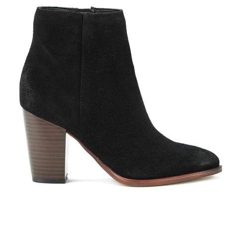 Sam Edelman Women's Blake Suede Heeled Ankle Boots - Black