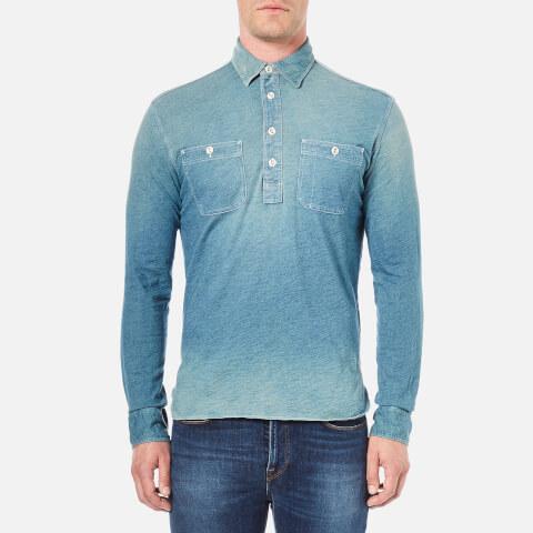 Polo Ralph Lauren Men's Long Sleeve Work Shirt - Blue