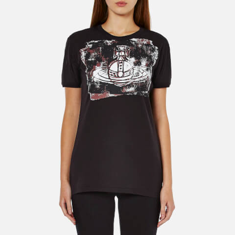 Vivienne Westwood Anglomania Women's Organic Cotton Orb Block T-Shirt - Black