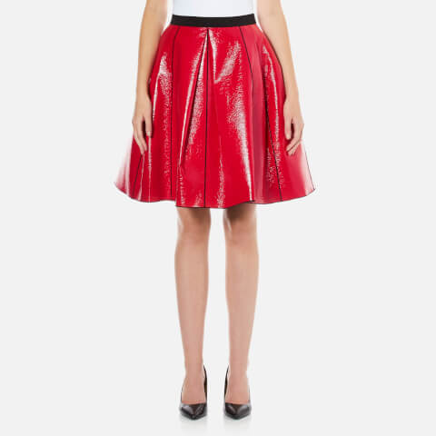 Marc Jacobs Women's Pleather Skirt With Elastic Waist - Red
