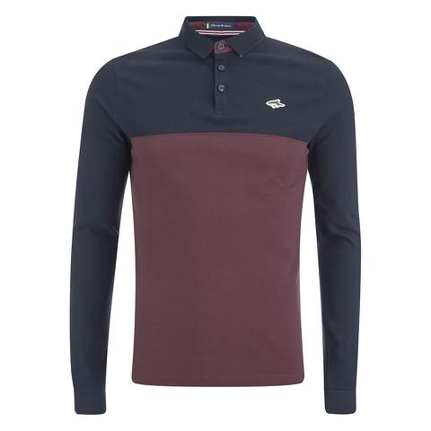Le Shark Men's Benhill Long Sleeve Polo Shirt - Port