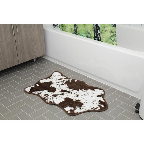 Cowhide Bath Rug - Brown
