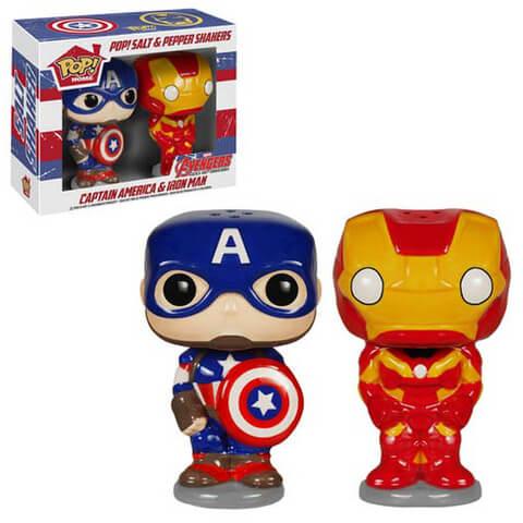 Captain America and Iron Man Pop! Home Salt and Pepper Shaker Set