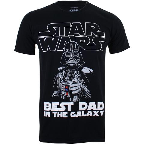 Star Wars Herren Vader Beste Papa T-Shirt - Schwarz