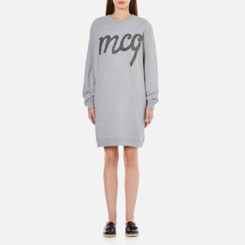 McQ Alexander McQueen Women's Classic Sweater Dress - Grey Melange