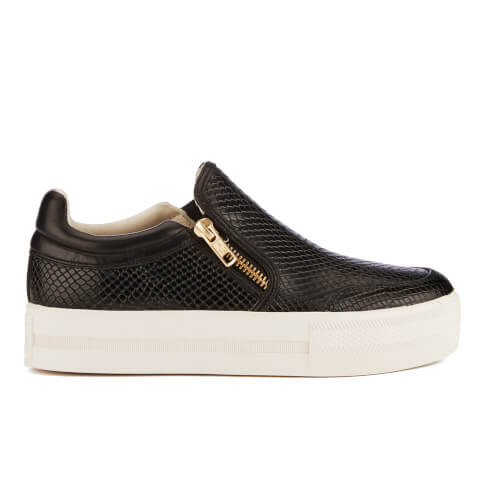 Ash Women's Jordy Snake Print Slip-On Trainers - Black