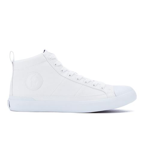 Polo Ralph Lauren Men's Clarke Canvas Hi-Top Trainers - Pure White