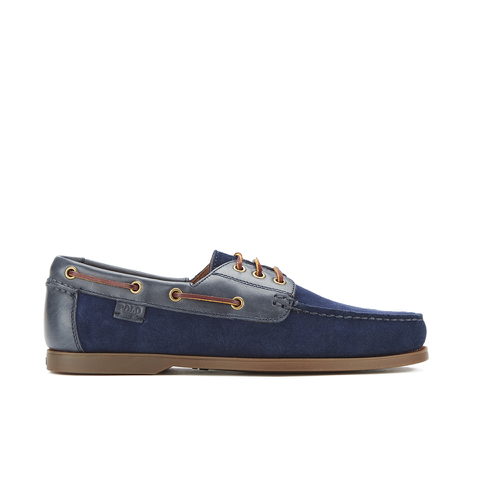 Polo Ralph Lauren Men's Bienne II Suede Boat Shoes - Newport Navy/Newport Navy