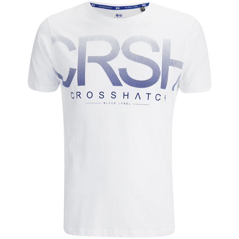 Crosshatch Men's Crusher Graphic T-Shirt - White