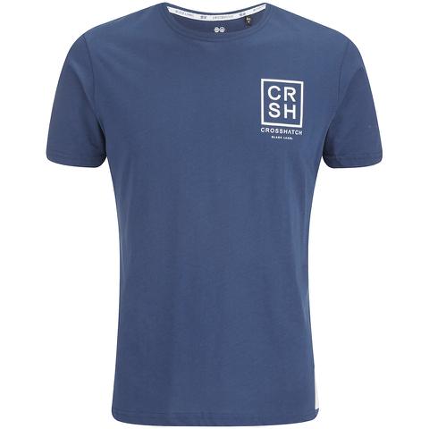 Crosshatch Men's Hicker Graphic T-Shirt - Estate Blue