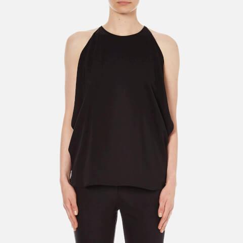 Theory Women's Bendava Silk Exposed Shoulder Top - Black