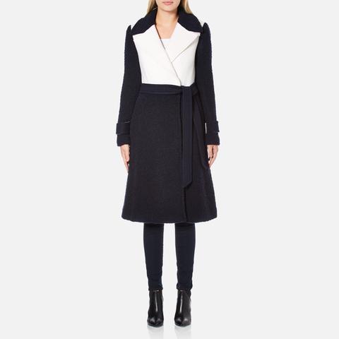 Diane von Furstenberg Women's Kayden Coat - Midnight/Canvas