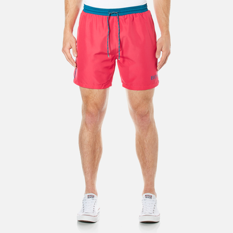 BOSS Hugo Boss Men's Starfish Swim Shorts - Medium Pink