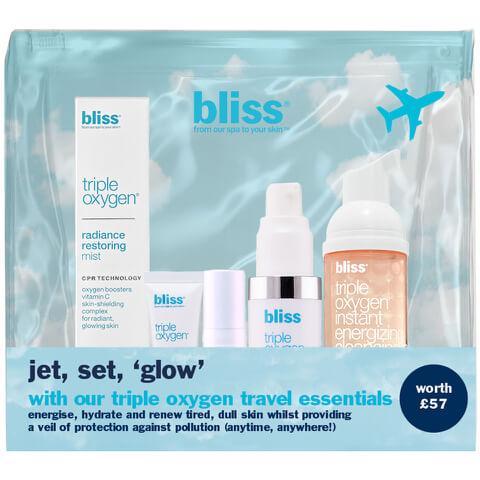 bliss Triple Oxygen Travel Essentials Set (Worth £57.00)