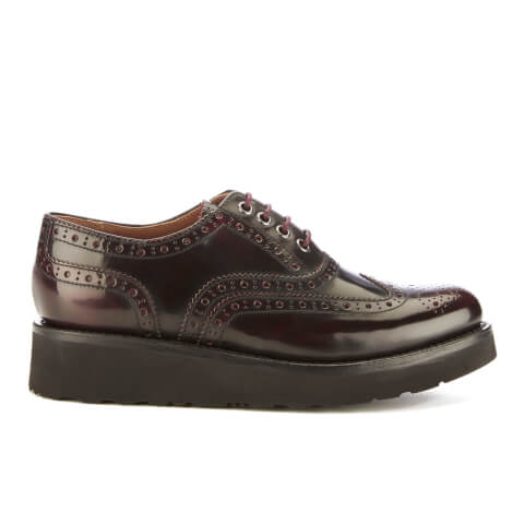 Grenson Women's Emily Leather Brogues - Burgundy Rub Off