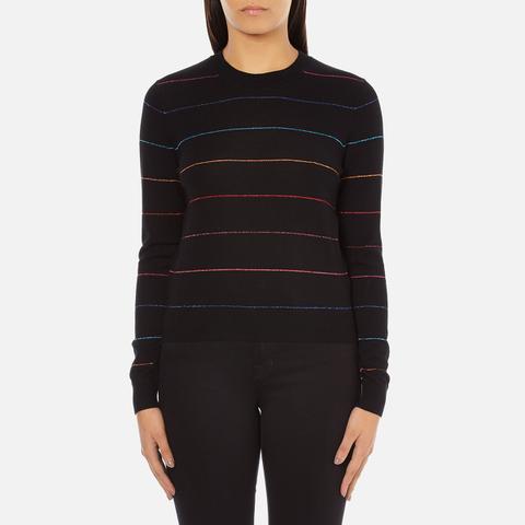 PS by Paul Smith Women's Fine Stripe Jumper - Black