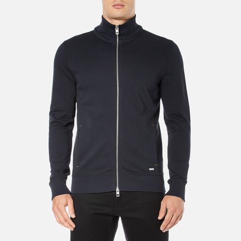 BOSS Orange Men's Zissou Zipped Sweatshirt - Dark Blue