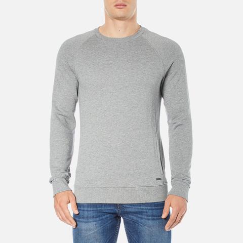 BOSS Orange Men's Wheel Crew Neck Sweatshirt - Grey