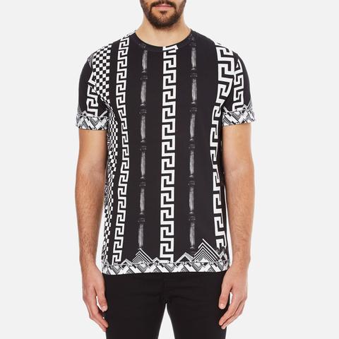 Versus Versace Men's Printed Crew Neck T-Shirt - White
