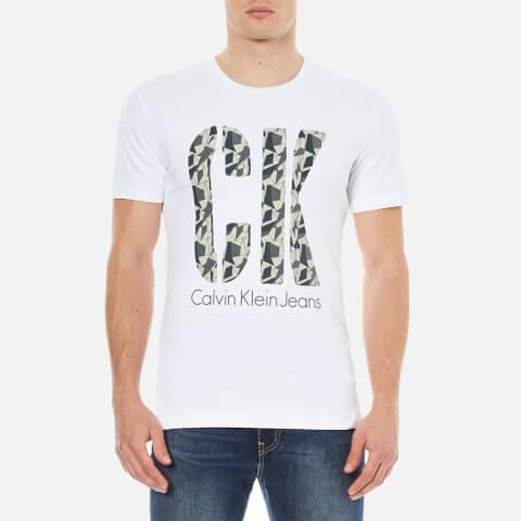 Calvin Klein Men's Tagin 2 T-Shirt - White