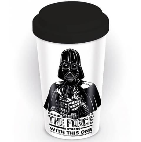 Star Wars 'The Force Is Strong' Ceramic Travel Mug - Black