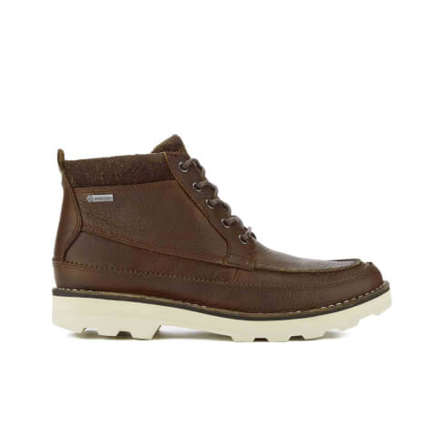 Clarks Men's Korik Rise GORE-TEX Leather Lace Up Boots - Tobacco