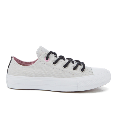 Converse Women's Chuck Taylor All Star II Shield Canvas Ox Trainers - Mouse/White/Icy Pink