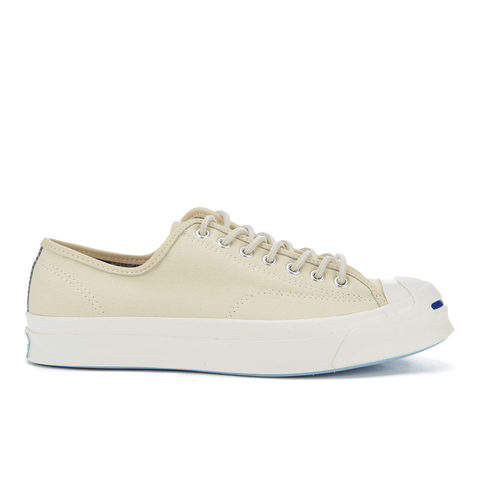 Converse Men's Jack Purcell Twill Shield Canvas Ox Trainers - Natural/Natural/Egret