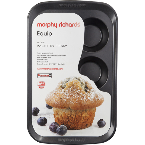 Morphy Richards 970509 6 Cup Muffin Tray