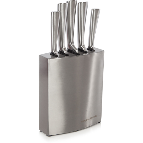 Morphy Richards 974818 Accents 5 Piece Knife Block - Stainless Steel