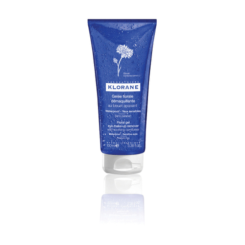 Klorane Floral Gel Eye Make-Up Remover with Soothing Cornflower - Waterproof