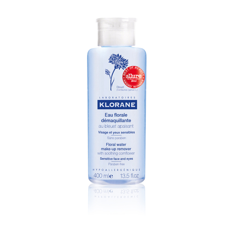Klorane Floral Water Make-up Remover with Soothing Cornflower