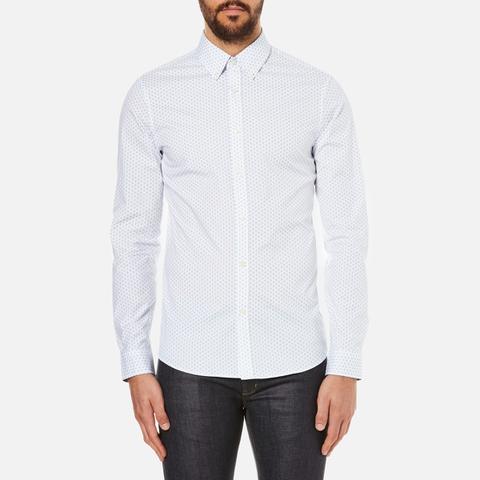 Michael Kors Men's Slim Fit Landon Long Sleeve Shirt - Ocean