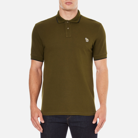 PS by Paul Smith Men's Regular Fit Zebra Polo Shirt - Khaki