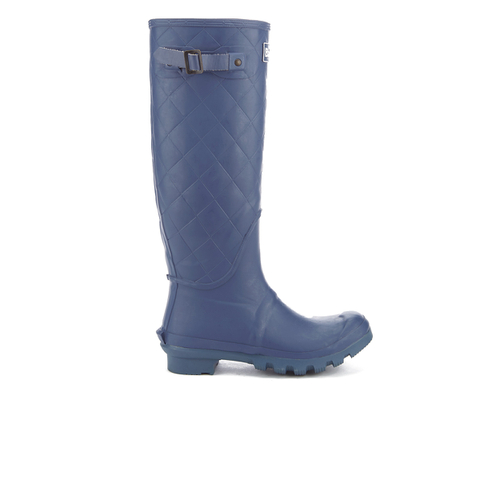 Barbour Women's Setter Quilted Wellies - Chalk Blue