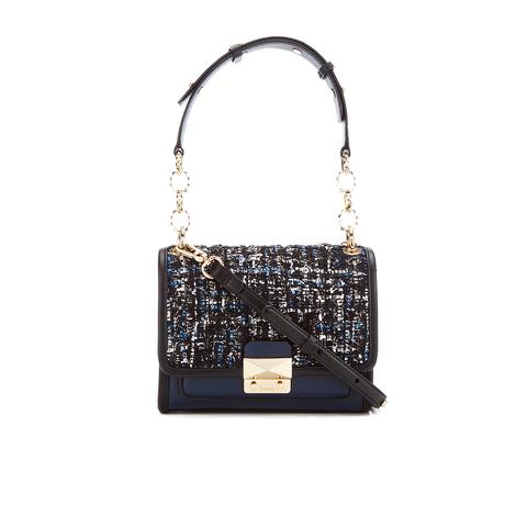 Karl Lagerfeld Women's K/Kuilted Tweed Mini Handbag - Midnight Blue