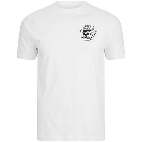 Rum Knuckles Mens Classic Logo T-Shirt - Wit