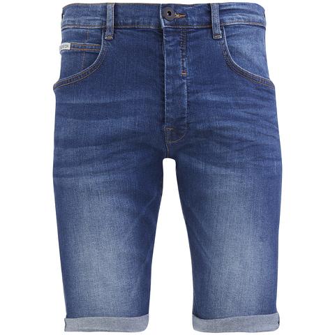 Crosshatch Men's Skylo Denim Shorts - Stone Wash