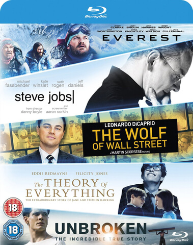 Everest/Theory Of Everything/Wolf Of Wall Street/Steve Jobs/Unbroken Boxset