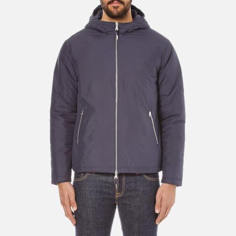 Folk Men's Zipped Hooded Jacket - Navy