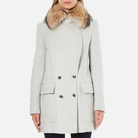 Belstaff Women's Whitney Coat with Fur - White/Grey Melange