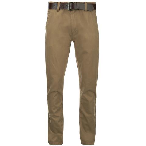 Smith & Jones Men's Ashlar Belted Slim Fit Chinos - Camel Twill