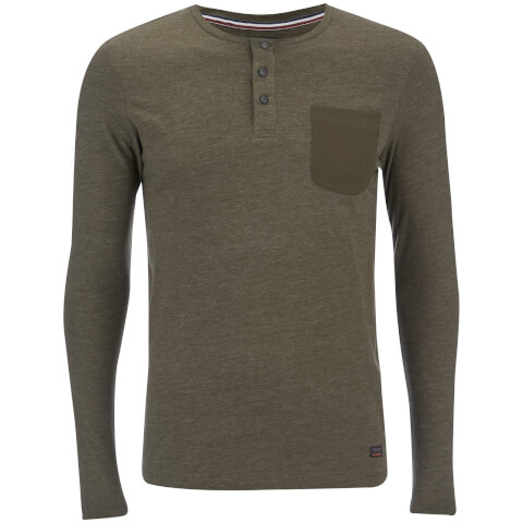 Produkt Men's Contrast Pocket Long Sleeve Top - Forest Night Melange