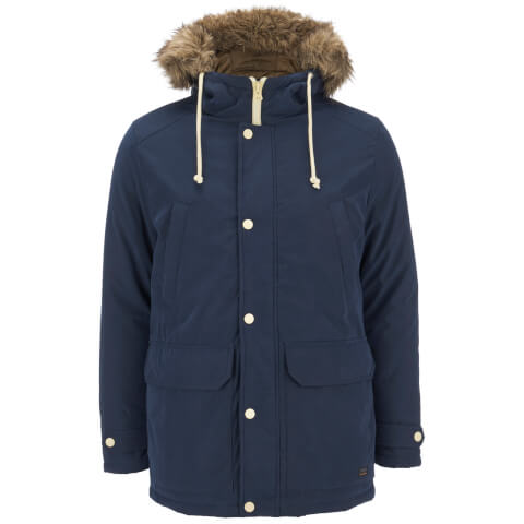 Produkt Men's Faux Fur Trimmed Parka Jacket - Navy Blazer